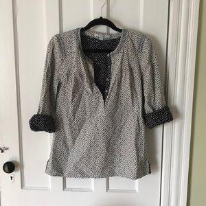 Boden Polka Dot Popover Shirt